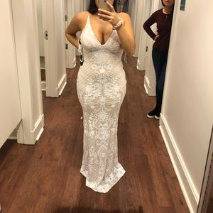 Dresses & Skirts - White prom dress/Cheap wedding dress